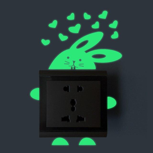 Neue Schalter Cartoon DIY Wandaufkleber Licht Fluoreszierende Dekoration  Ihr Zimmer
