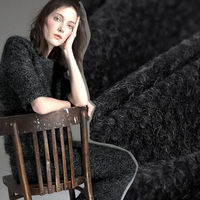 150CM Wide 450G M Black Gray Knitted Wool Fabric For Autumn Winter Warm Dress Outwear Overcoat