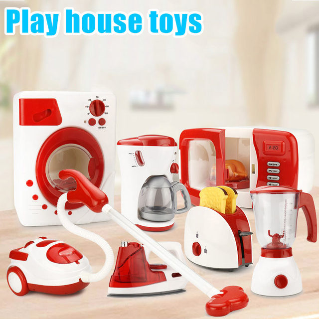 US $9.27 16% OFF|Mini Household Pretend Play Kitchen Children Toys Vacuum  Cleaner Cooker Educational Toys Set BM88-in Kitchen Toys from Toys &  Hobbies ...
