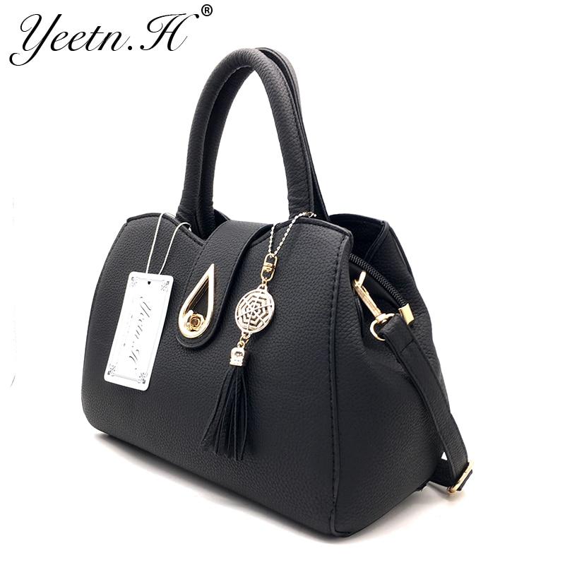 Yeetn.H New Arrival Woman Bag Fashion Handbag Shoulder Bag Classic PU - Beg tangan - Foto 2