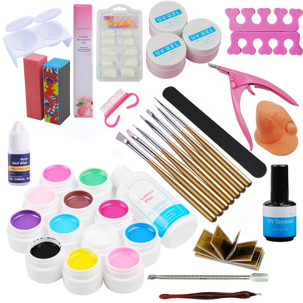 Image 3 - 72 Colors Acrylic Glitter Powder Kit Nail Art Decorations Set Brush For Nail Pusher Varnish Semi Permanent Uv Set-in Sets & Kits from Beauty & Health