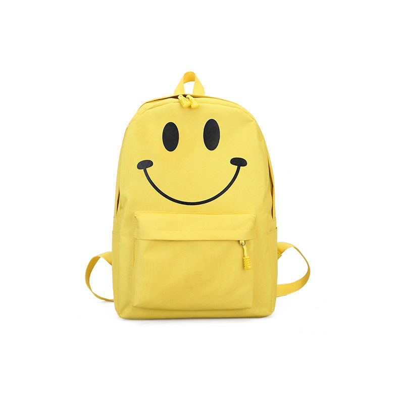 2018 Women Fashion Bags Yellow Smile Backpack Cute Small Female Backpack for Girls Backpacks Ladies Backpacks