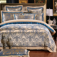 IvaRose 2017 Fashion Quality Bedding Set Queen King Size Jacquard Duvet Cover Bedsheet Pillowcase 4/6pcs