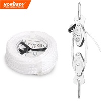 HORUSDY 180Kg Cargo Lifting Pulley Set Winch Hoist Rope Pulley Puller Kit