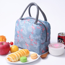 Portable lunch bag fashion printing large capacity insulation package ice pack outdoor picnic bag lunch bag lunch box bag shoulder storage bag multi function ice pack lunch lunch bag breast milk preservation insulation package back milk bag portable