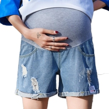 цены Pregnant clothes summer maternity shorts Denim shorts Elastic waist pantalon embarazada cotton Pregnant women's clothing premama