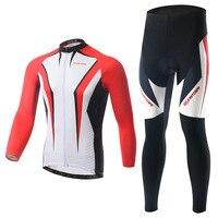Boodun شارب السهام الحمراء الدراجات ارتداء طويلة الأكمام الدراجات تخدم قبض أسفل وظيفة داخلية الريح الدفء