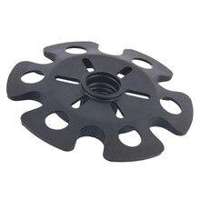 Rubber Tip End Cap Hammer Snowflake Basket for Walking Trekking Pole Stick free shipping