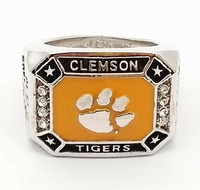 Drop Shipping 2016 CLEMSON TIGERS ACC FOOTBALL CHAMPIONSHIP RING Solid Fan Brithday Souvenir Gift Wholesale Factory