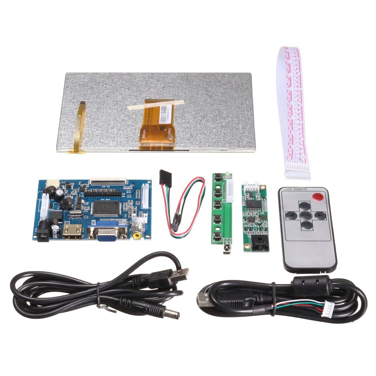 Новый 1 компл. Raspberry Pi 7 дюймов Raspberry Pi LCD сенсорный экран HDMI HD 1024x600 сенсорный ЖК драйвер платы с USB кабельной линии