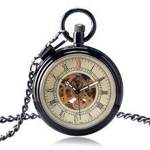 Classic Open Face Automatic Mechanical Retro Roman Numbers Pocket Watch Chian Men Women Steampunk Cool Self Winding Fob Watches