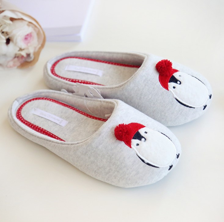Cute Animal Pattern Home Slippers Women Indoor Shoes For Bedroom House Adult Guest Warm Winter Soft Bottom Flats cute bowtie warm winter women home slippers for indoor bedroom house soft bottom shoes adult gusets flats christmas gift