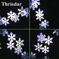 Thrisdar Moving Snowflakes Outdoor Garden Laser Projector LED Stage Lights Landscape Laser Light For Christmas Wedding