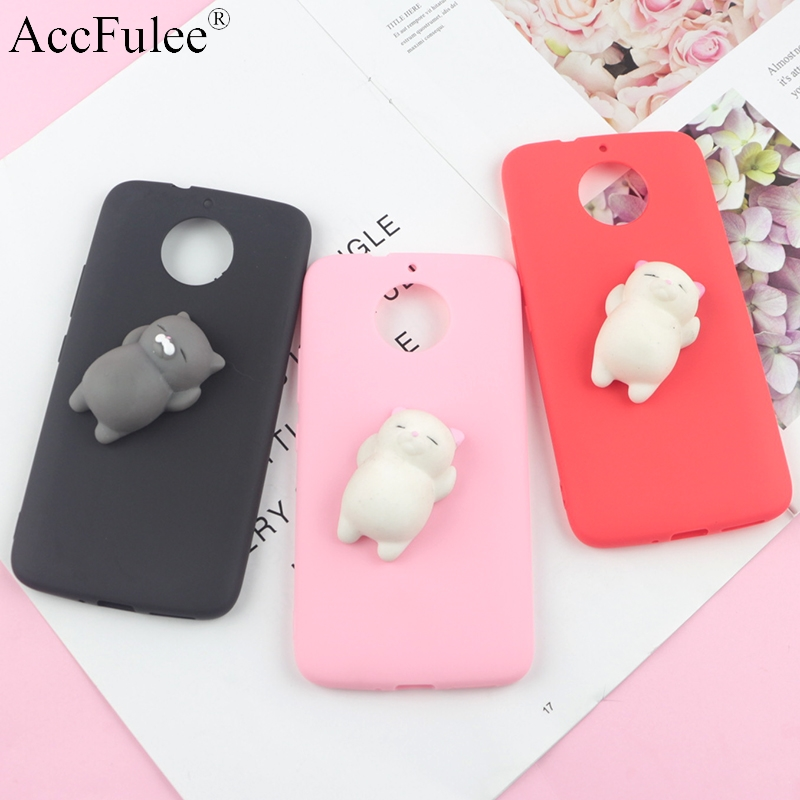 Squishy 3D Toys Phone Cat Case For Motorola Moto One Macro/Action/Vision E6 Plus E5 E4 Z2 Z3 Z4 P30 P40 Funny Foot Soft Cases
