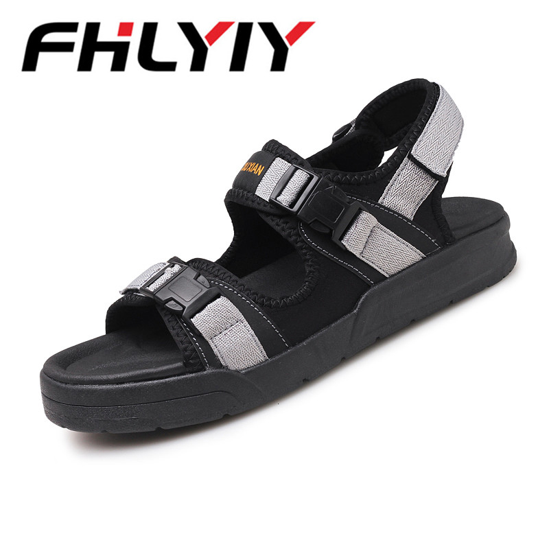 Men Sandals 2018 Summer Men Black Beach Sandals High Quality Unisex Summer Flat Shoes Sandalias Para Hombre Big Size 45 Mujer