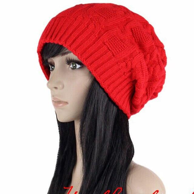 Venta como las tortas calientes de la manera calientes Otoño Invierno  sombreros de punto para las mujeres rayas doble cubierta de skullies de los  hombres ... 546c4b43a1e
