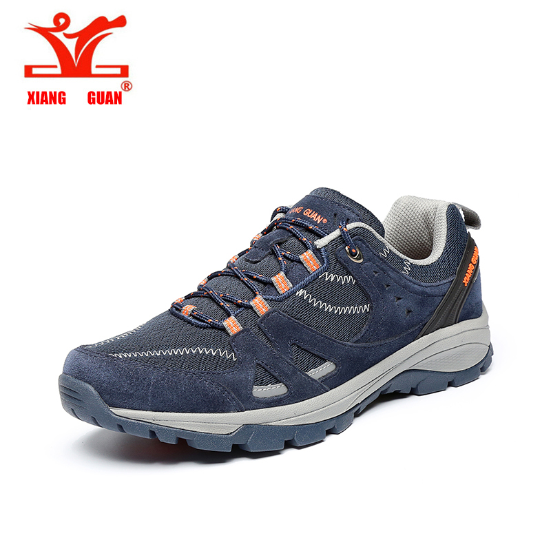 ФОТО 2017 XIANG GUAN Men Running Shoes Outdoor Sneaker Sport Hunting off-road Riding Grey Blue Army Green Man rubber cow EUR 39-45