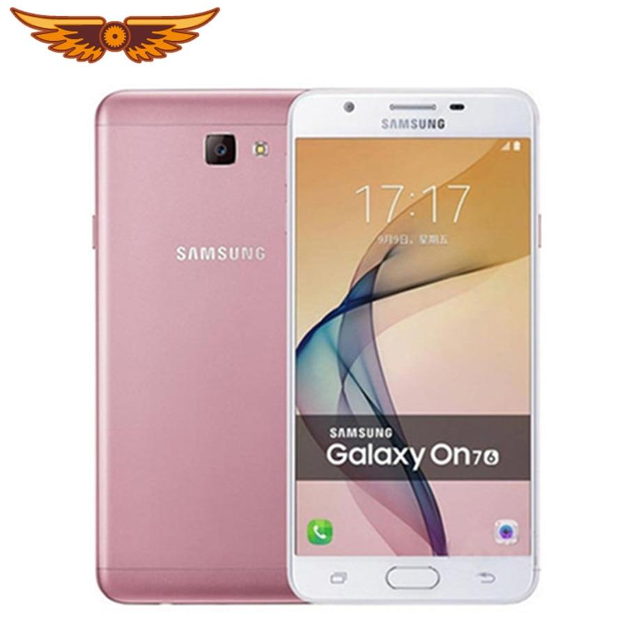 Original Samsung Galaxy On7 2016 J7 primer G6100 5,5 pulgadas 3GB RAM 32GB ROM 4G LTE 13.0MP Octa Core huella dactilar teléfono móvil