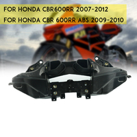 Head Front Upper Fairing Stay Brackets Black For 2007 2008 2009 2010 2011 2012 Honda CBR600RR