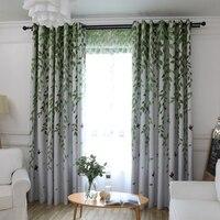 Moderne Jacquard grün pastoralen Vorhänge Gestreiften Foto Vorhang Küche Dekorationen Vorhänge Für Wohnzimmer Tuch Gewohnheit Schlafzimmer-in Vorhänge aus Heim und Garten bei