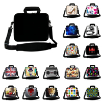 17 Inch Fashion Business Briefcase Unisex Black Neoprene Shoulder Notebook Bags For Apple Acer Toshiba Dell