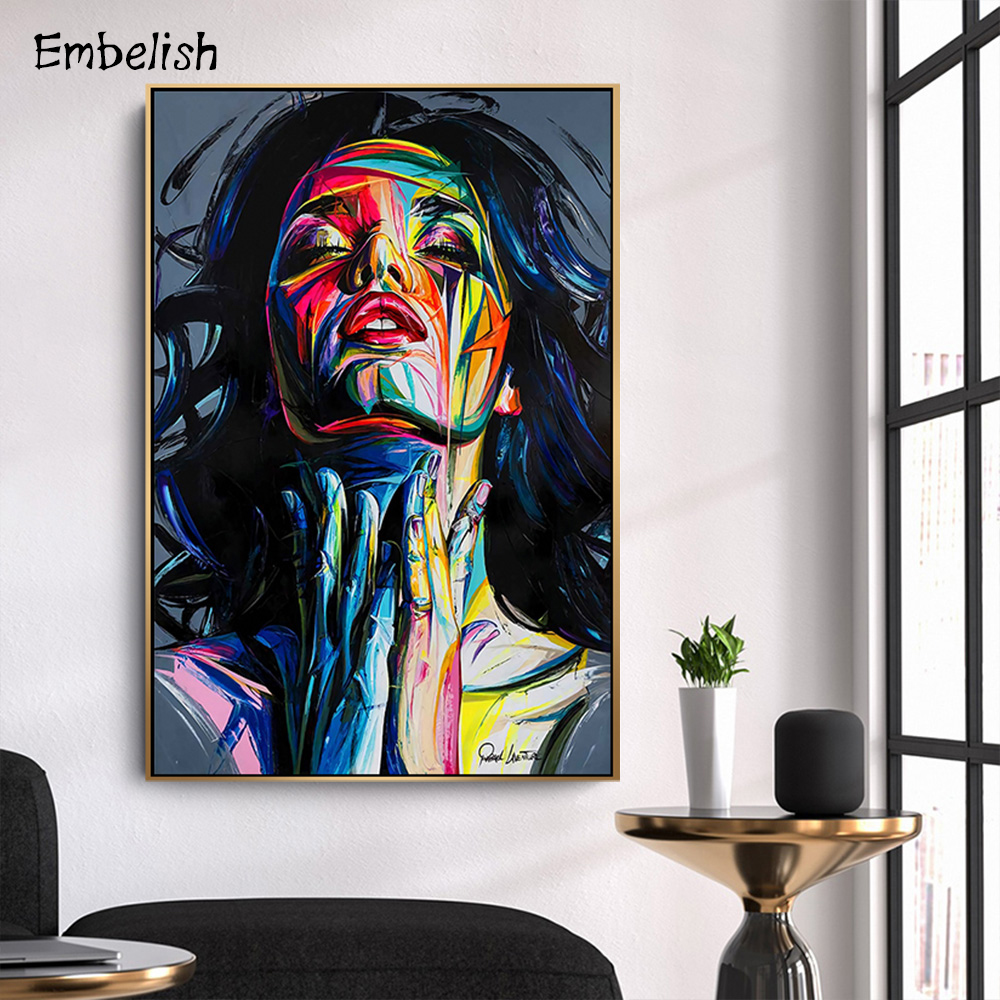Embelish Canvas Paintings Wall-Art Pictures Living-Room Home-Decor Colorful Modern 1pieces
