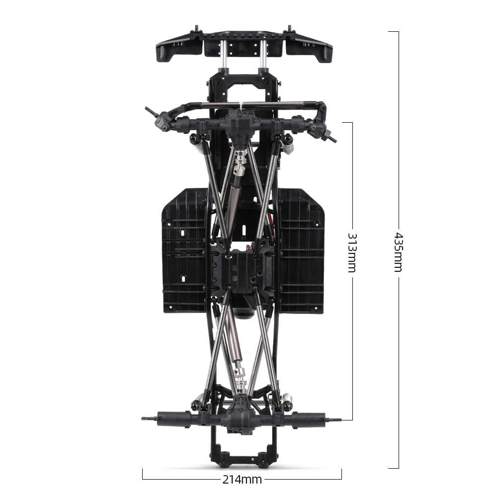 RC Автомобильная рама 313 мм Колесная база шасси с 540 35T матовый двигатель для 1/10 осевой SCX10 II 90046 90047 RC Гусеничный альпинистский Автомобиль DIY