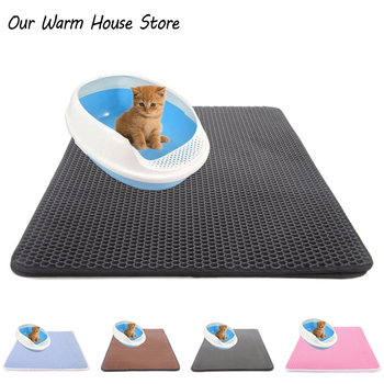 Pets Cats Litter Mat Bed House Floor Portable Double Layer EVA Leather Waterproof Bottom Trapper Home Mat Wearable Cat Products