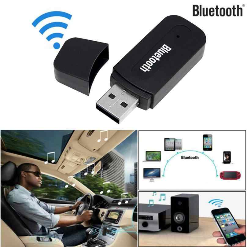 Car-styling New 3.5mm Car Wireless Bluetooth Aux Audio Stereo Music Receiver Adapter+Mic For PC 808 dropship