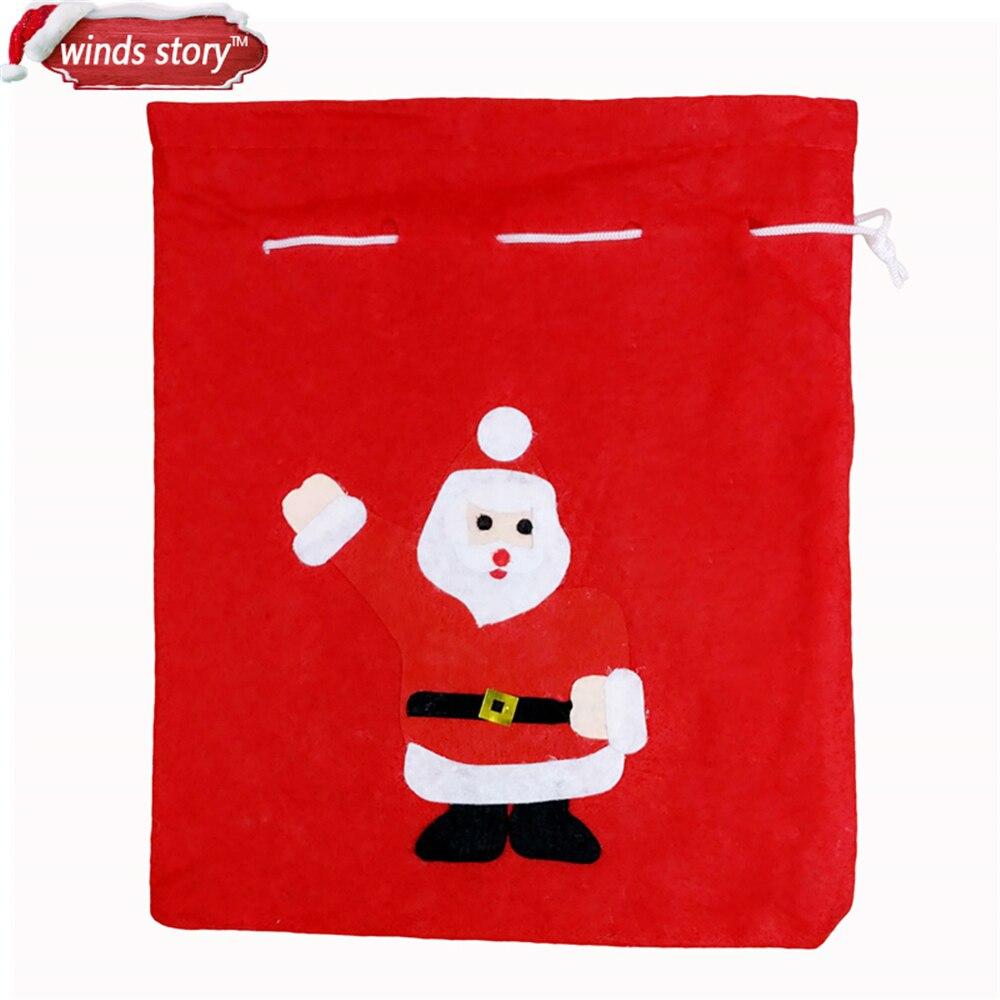 6 stücke große Santa Sack weihnachtsgeschenk Sack Weihnachten Sack ...