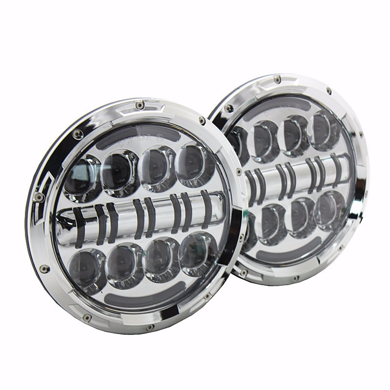 7 Inch Round Headlight with DRL Turn Signal, Integrated LED 2