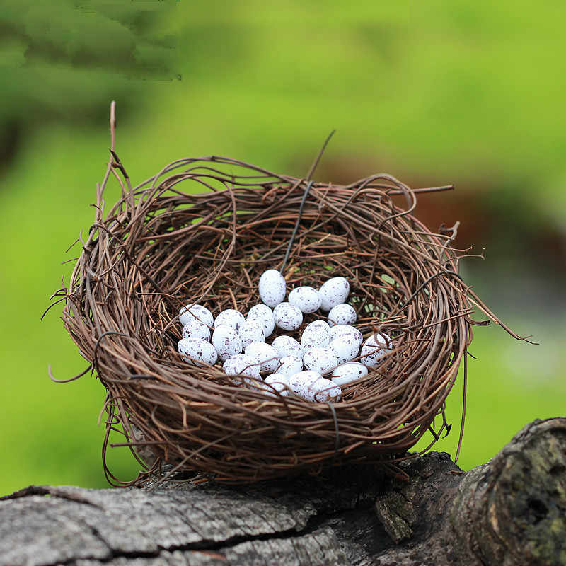 人工ミニ鳥の巣ペンギン豚ガーデンミニチュアノーム苔テラリウム樹脂工芸家の装飾のための置物