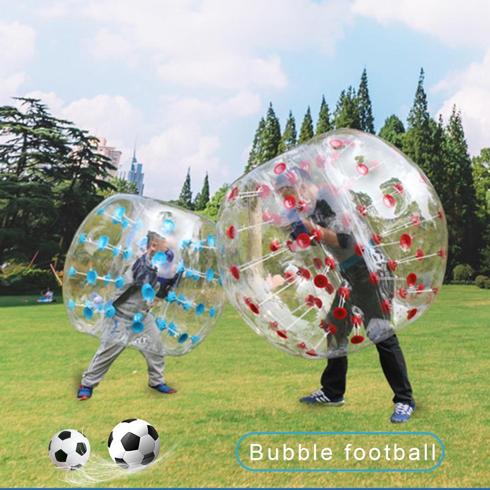 Oyuncaklar ve Hobi Ürünleri'ten Şişme Zıplama Yerleri'de 1.2m 5 Renk Kabarcık Topu PVC Aşınmaya dayanıklı Şişme Kabarcık Zorb futbol topu Kullanımı Çocuklar Için/Yetişkin aile Açık Oyun'da  Grup 2