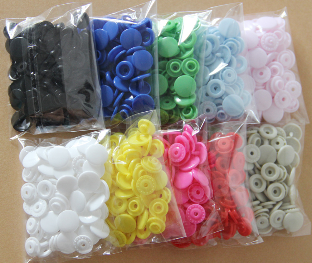 Mixed 10 Colours Lot 100 Sets KAM T5 Size 20 Resin Snaps Buttons For Baby Clothes Diaper Craft