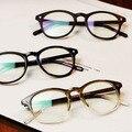 Japón Vintage hombres / mujeres ronda gafas graduadas Frame Johnny Depp marca miopía anteojos marco óptico armação De Oculos