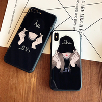 Личность iphone7 XS MAX XR мобильный телефон оболочки стекла зеркало Япония Южная Корея 6splus пара x прилив 8 плюс анти падения для мальчиков и девоче...