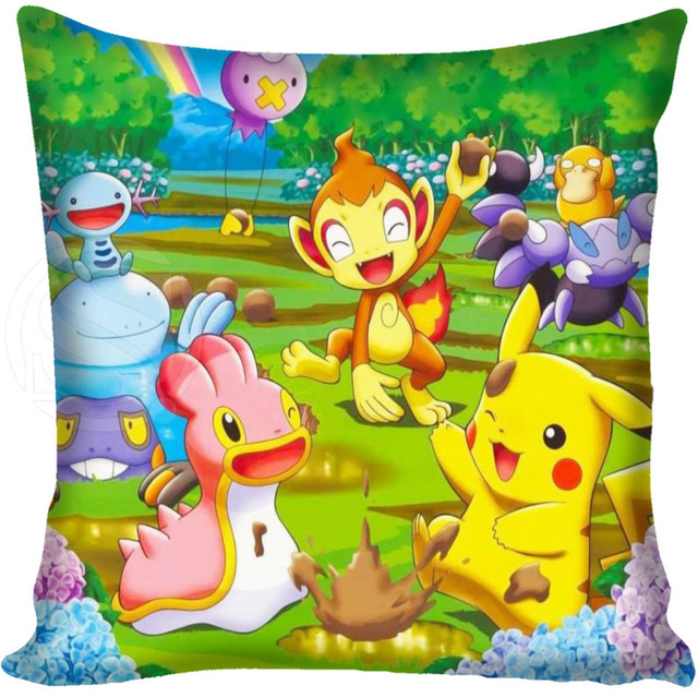 custom pokemon pillowcase cover soft square zipper pillow cover rh aliexpress com