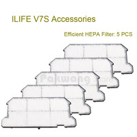 Original ILIFE V7S Efficient HEPA Filter 5 Pcs Of Robot Vacuum Cleaner Accessories