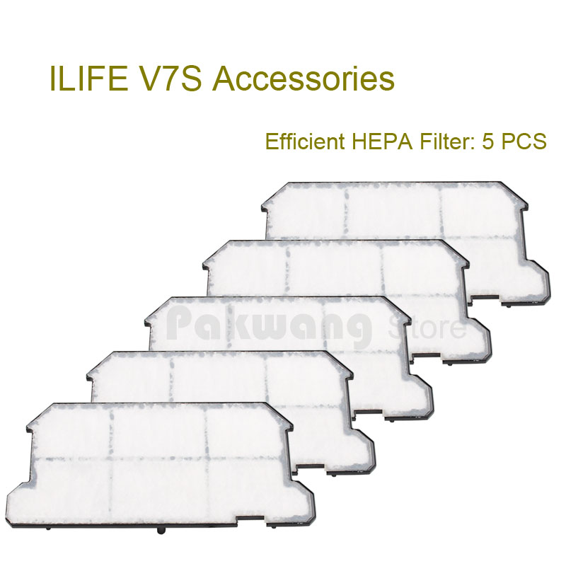 Original ILIFE V7S Efficient HEPA Filter 5 pcs of Robot Vacuum Cleaner accessories optimal and efficient motion planning of redundant robot manipulators