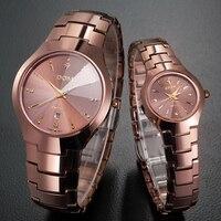 DOM Casual Quartz Watch Tungsten Steel Lovers Watch Men Brand Luxury Women Watch Waterproof Quartz Watch