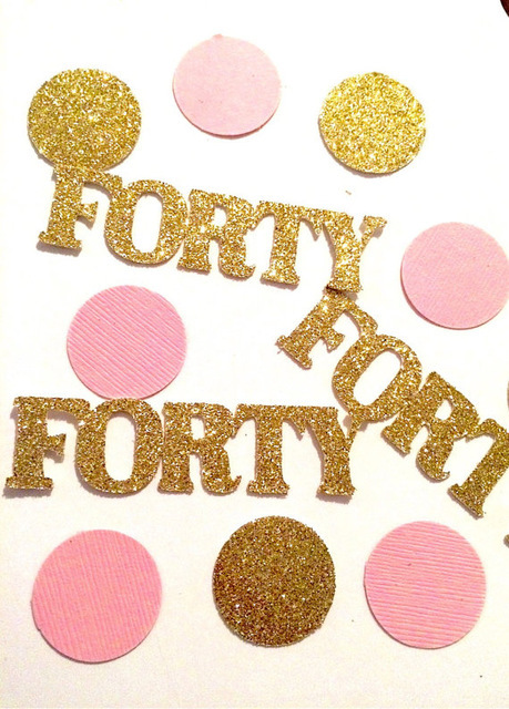 Glitter Gold Pink 40th Birthday Confetti For Baby Shower Table Decoration Confettis Wedding Scatters Party Decorations