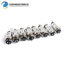 10 set GX20-2 2Pin With Flange Male Female 20mm Wire Panel Connector DF20 Circular Welding Aviation Plug Socket Air
