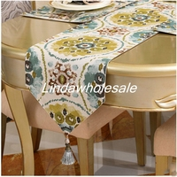 American country cotton linen table flag coffee table runner,TV cabinet mat