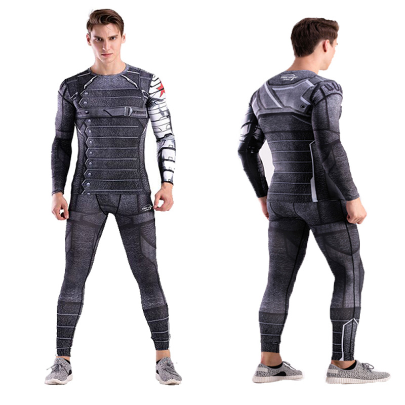 Men's Clothing Latest Collection Of Mma Mens Compression Shirt Pants Rashguard Marvel Captain America The Flash Black Panther Spider Man Winter Soldier Codylundin