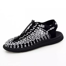 2019 Summer Men's Sandals Handmade Design Breathable Casual Shoes Fashion Beach Shoes Unisex Sandals Outdoor Women's Sandals