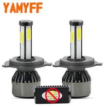 купить YAMYFF Canbus Car Headlight H4 LED Bulb D1S D2S D3S D4S LED Lamp 6000K Light Bulb Auto Fog Lights 4 Side 8000LM Automobiles 12V по цене 1581.97 рублей
