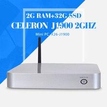 Четырехъядерный процессор celeron J1900 2 ГБ оперативной памяти 32 ГБ ssd + wifi настольный компьютер материнские платы поддержка аудио, Видео видеоконференции