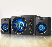 SADA D-209 With Colorful LED light Desktop Computer Speaker with Subwoofer – Perfect 2.1 Gaming and Multimedia PC speakers