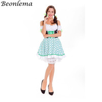 Beonlema Sissy Maid Dresses Women Cosplay Costume Sexy White Tube Top Waist Slimming Dress Lolita Role Playing Outfit Plus Size