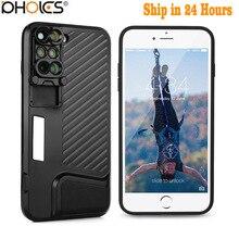 2017 8 плюс двойной Объективы для фотоаппаратов Fisheye Широкий формат макро объектив телескопа для Apple IPhone X 8 плюс/7 Plus + черный чехол для телефона